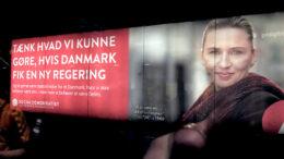 Socialdemokratiet - Mette Frederiksen-valgplakat i Metroen 24. april 2019 - foto News Øresund, Malmö, Sweden via Flickr